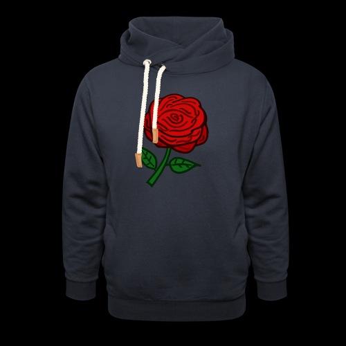 Rote Rose - Schalkragen Hoodie