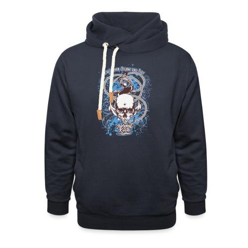 Skull Anker Design Art - Schalkragen Hoodie