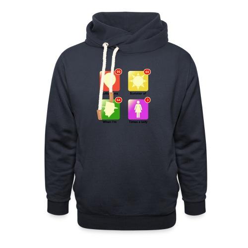 muziek apps - Sjaalkraag hoodie