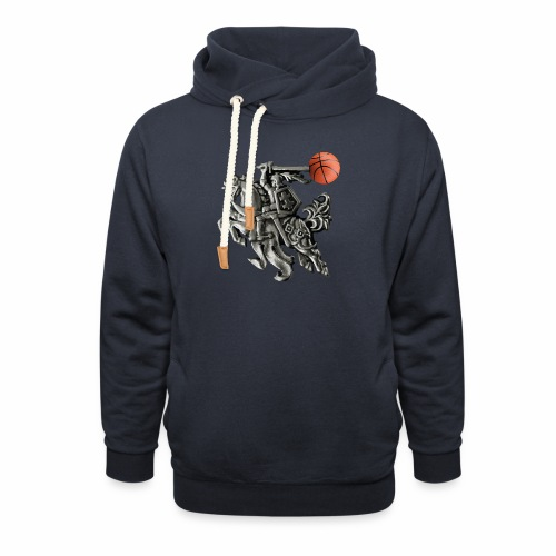 Lithuania basketball - Shawl Collar Hoodie