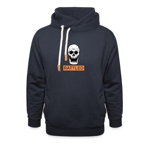 Rattled Spooky Halloween Skeleton Meme - Shawl Collar Hoodie