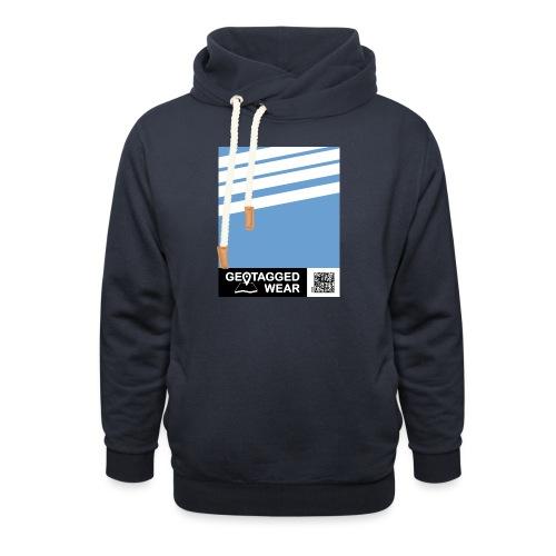 Unisex Stripes Pantone Trend S/S 18 Boy Blue - Schalkragen Hoodie
