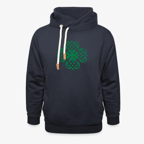 Shamrock Celtic knot decoration patjila - Shawl Collar Hoodie