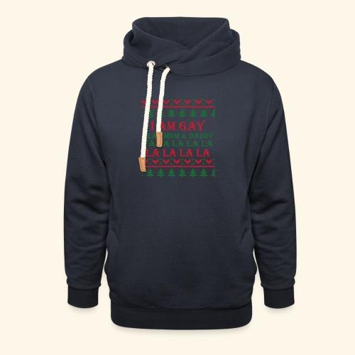 Gay Christmas sweater r+g - Bluza z szalowym kołnierzem