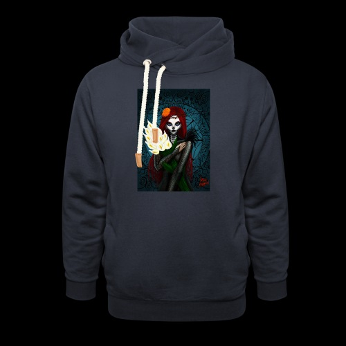 Death and lillies - Shawl Collar Hoodie