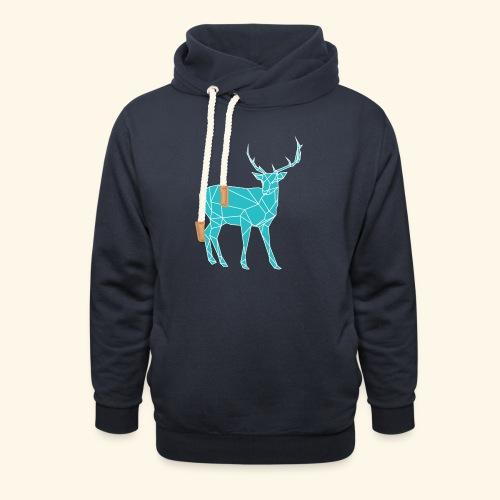 Blue Reindeer - Unisex Shawl Collar Hoodie