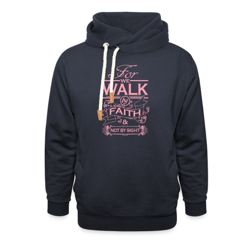 walk pink - Shawl Collar Hoodie