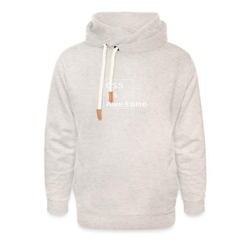 cssawesome - white - Unisex sjaalkraag hoodie