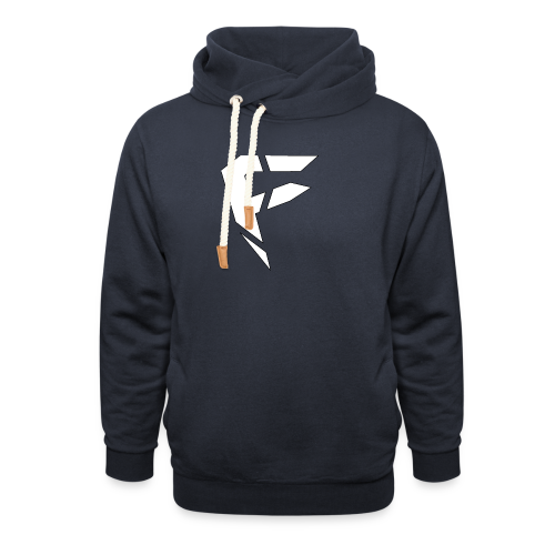 F Logo in Weiß - Schalkragen Hoodie