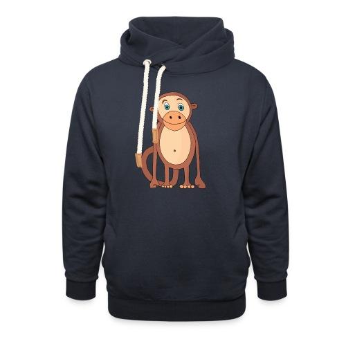 Bobo le singe - Sweat à capuche cache-cou