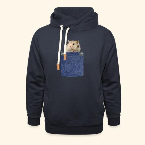 hamster in the poket - Felpa con colletto alto unisex