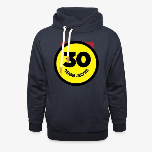 30 Jaar Belgian New Beat Smiley - Unisex sjaalkraag hoodie