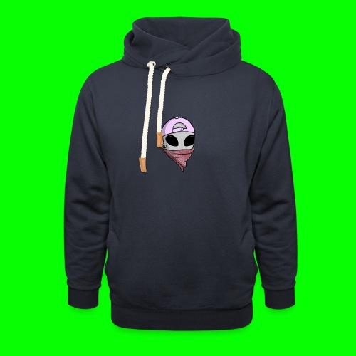 gangsta alien logo - Felpa con colletto alto unisex