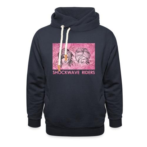 Shockwave Riders Faces pink - Unisex Schalkragen Hoodie