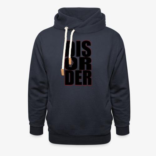Disorder Logo Schwarz - Schalkragen Hoodie