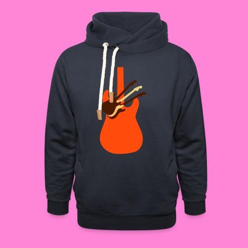 Guitar guitar - Sjaalkraag hoodie