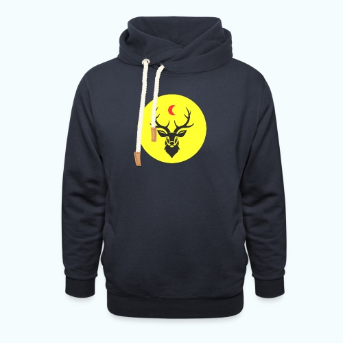 Hipster deer - Shawl Collar Hoodie