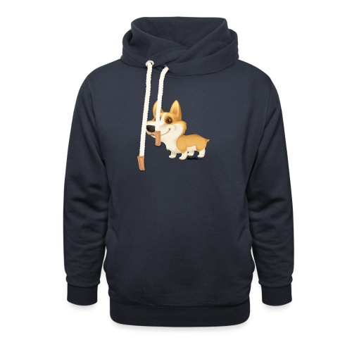 Corgi - Unisex sjaalkraag hoodie