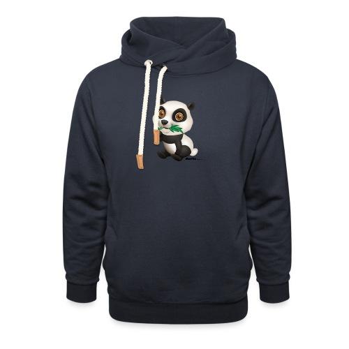 Panda - Bluza z szalowym kołnierzem unisex