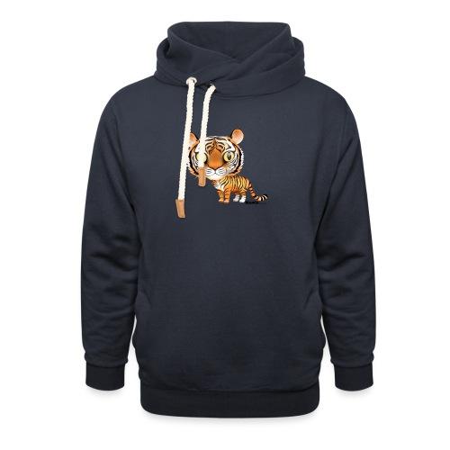 Tijger - Unisex sjaalkraag hoodie