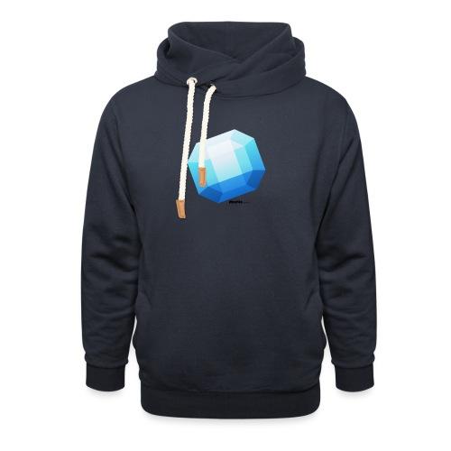 Saffier - Unisex sjaalkraag hoodie