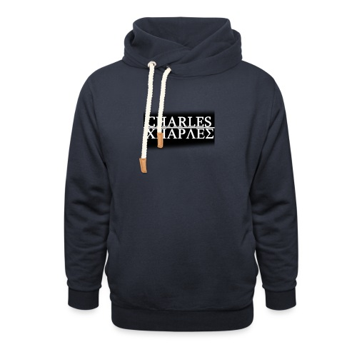 CHARLES CHARLES BLACK AND WHITE - Shawl Collar Hoodie