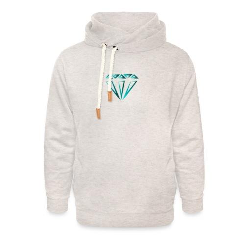 diamante - Felpa con colletto alto unisex