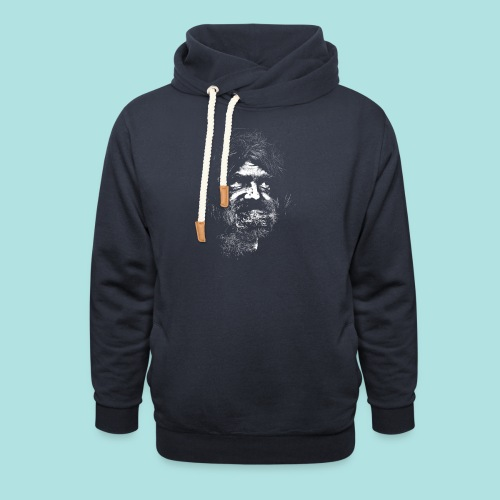 Old Guy, Eyes Open. - Unisex Shawl Collar Hoodie