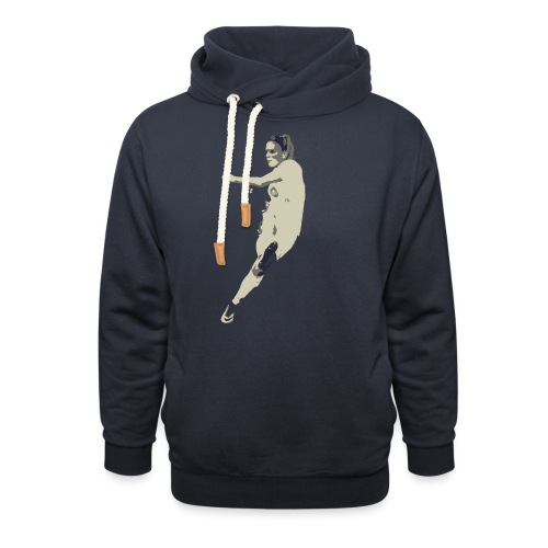 JAIMY VISSER - Unisex sjaalkraag hoodie