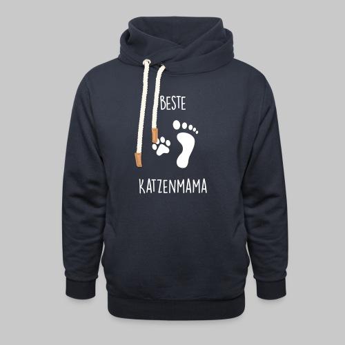 Beste Katzenmama - Unisex Schalkragen Hoodie