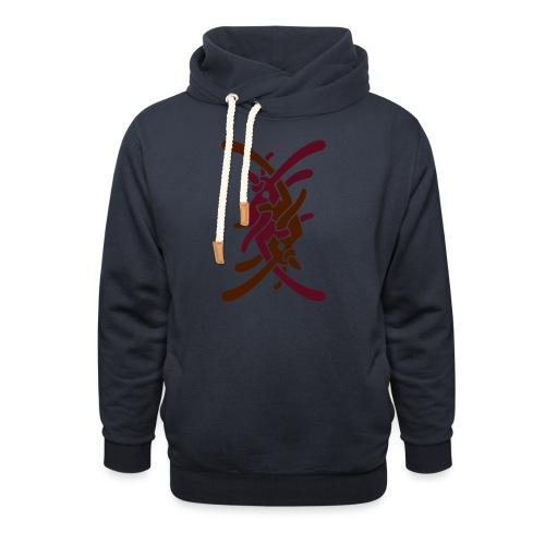 Stort logo på ryg - Unisex hoodie med sjalskrave