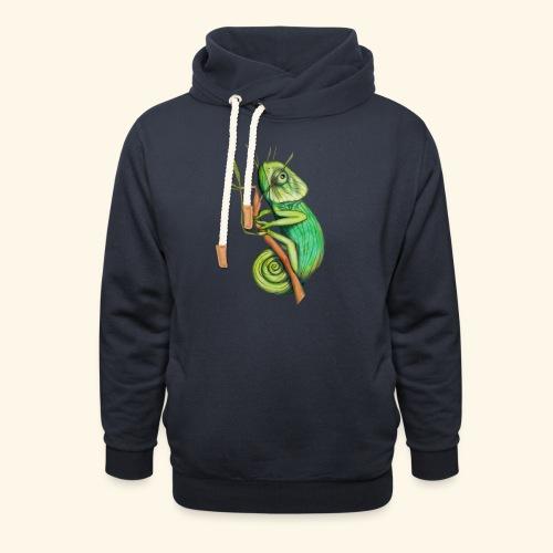 green chameleon - Felpa con colletto alto