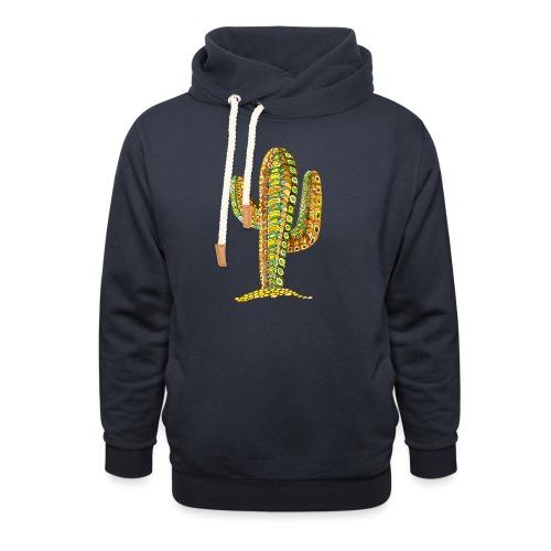 Le cactus - Sweat à capuche cache-cou