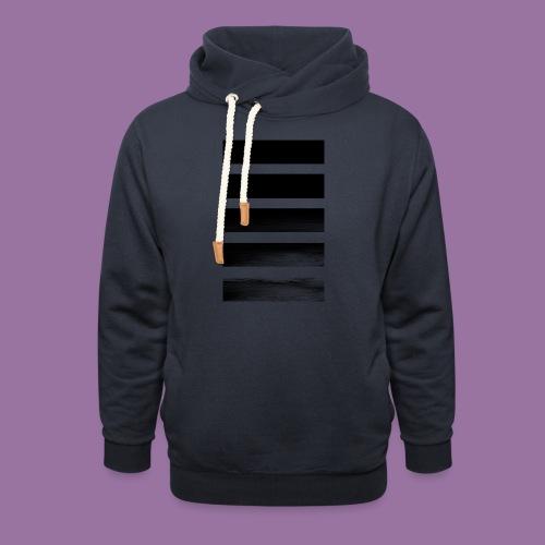 Stripes Horizontal Black - Felpa con colletto alto