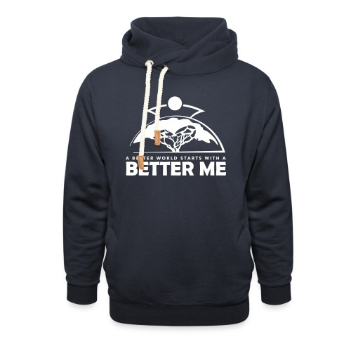 Better Me - White - Shawl Collar Hoodie