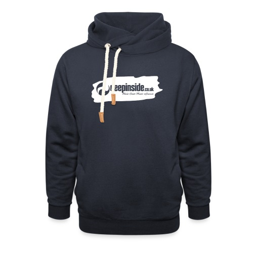 deepinside world reference marker logo white - Shawl Collar Hoodie