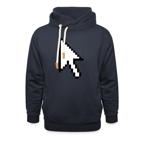 Mouse Arrow - Unisex sjaalkraag hoodie