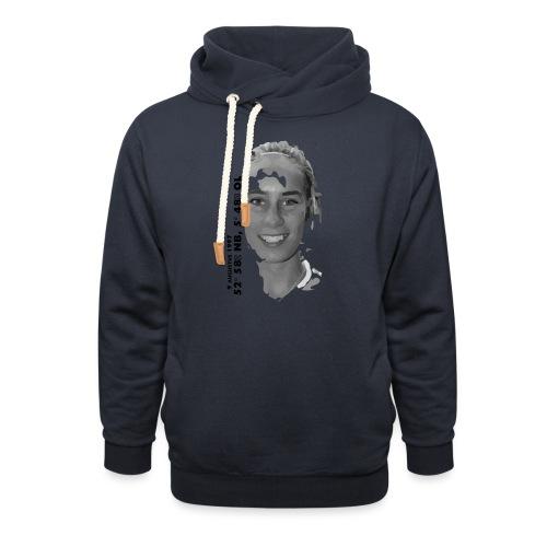 VAN DER WAL - Unisex sjaalkraag hoodie