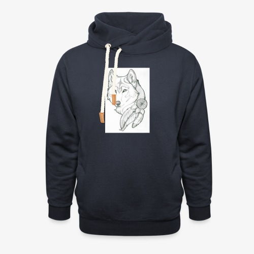 wolf - Unisex sjaalkraag hoodie