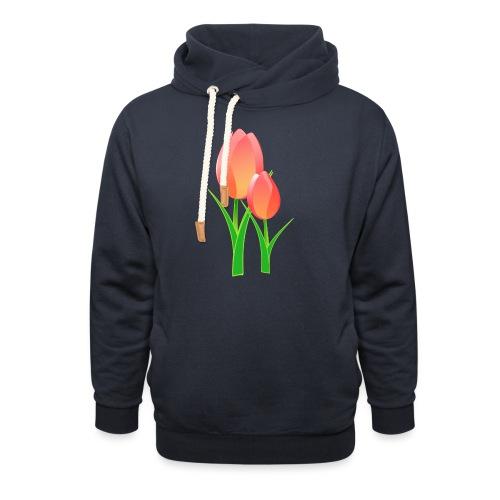 Belle fleur - Sweat à capuche cache-cou