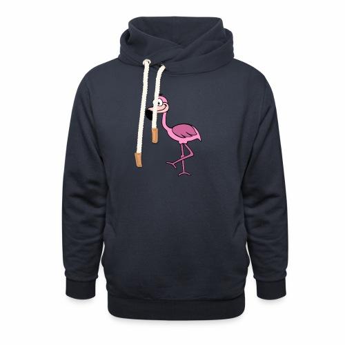 Flamingo - Schalkragen Hoodie