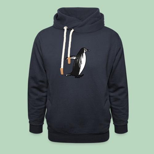Penguin Penguïn (gentoo) - Unisex sjaalkraag hoodie