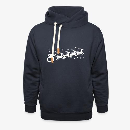 Santa WheelChair Mafia especially for Christmas - Unisex sjaalkraag hoodie