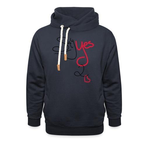 Yes 2 Love - Unisex sjaalkraag hoodie