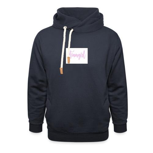 Team girl - Unisex sjaalkraag hoodie