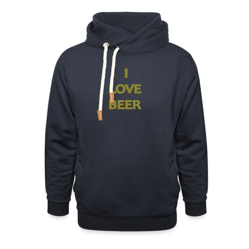 I LOVE BEER - Felpa con colletto alto unisex