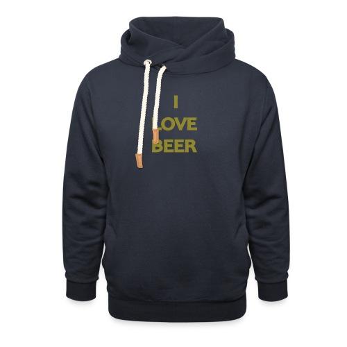 I LOVE BEER - Felpa con colletto alto
