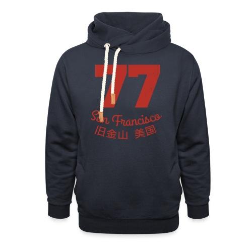 77 san francisco usa - Schalkragen Hoodie