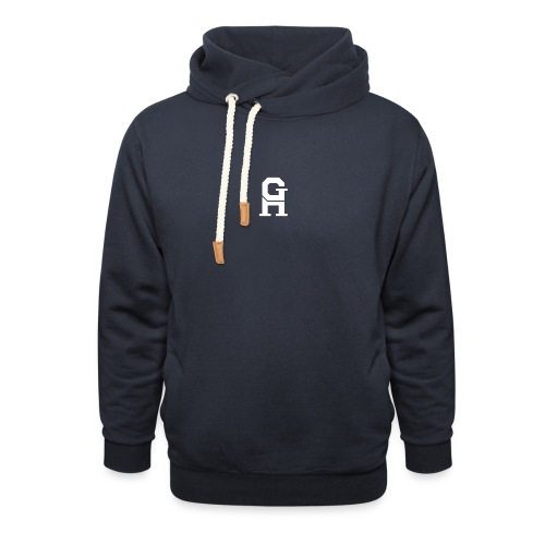 afterlife logo - white - Sjaalkraag hoodie