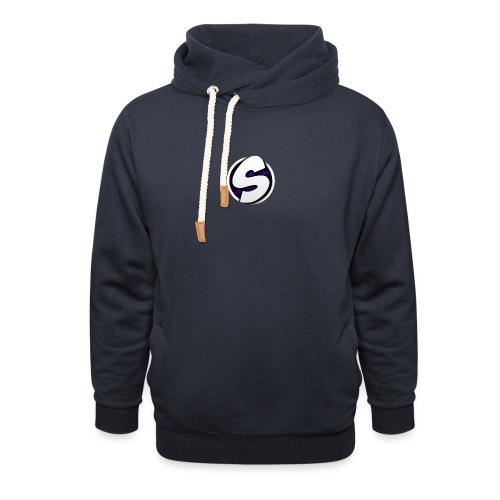 SilkyFX logo - Unisex sjaalkraag hoodie